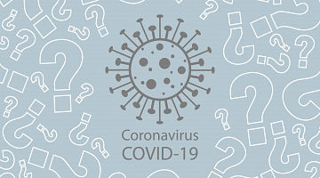A grey coronavirus amid question marks