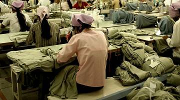 female workers in garment factor