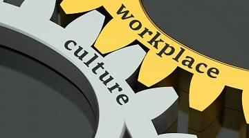 Graphic of gears indicating meshing of workplace and culture