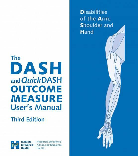 Front cover of Disabilities of the Arm Shoulder and Hand Outcome Measure user's manual