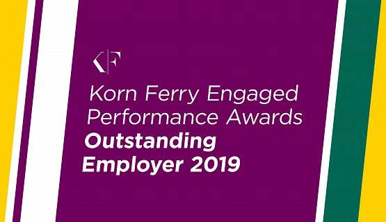 Korn Ferry Engaged Performance Awards Outstanding Employer 2019 badge