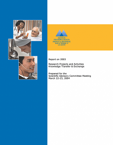 Accomplishments report 2003 cover