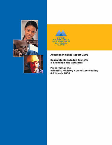 Accomplishments report 2005 cover