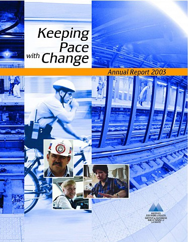 Annual report 2003 cover